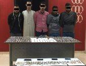 القبض على 5 عاطلين وبحوزتهم كميات من المواد المخدرة فى الغربية