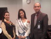 ملكة جمال مصر تغادر إلى الصين للمشاركة في مسابقة ملكة جمال الكون (صور)