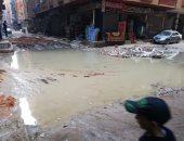 غرق شارع حسين الضو بفيصل بمياه الصرف الصحى