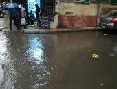 قارئ يشكو غرق شوارع منطقة الإبراهيمية بالإسكندرية بمياه الأمطار والصرف الصحى