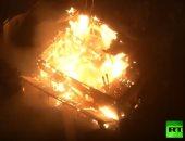 شاهد لحظة اندلاع الحرائق بغابات كاليفورنيا