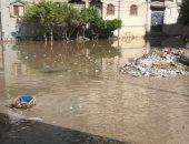 قارىء يرصد تجمع مياه الأمطار أسفل كوبرى أبيس بالإسكنندرية