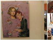 """اللى يصبر ينول.. """"سارة"""" رسامة فاتها المعرض المحلى فشاركت بلوحتها فى معرض روما"""