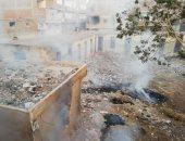 أهالى الحى التاسع بالعبور يشكون من انتشار القمامة وحرقها