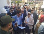 صور.. وزيرة الصحة تتفقد مستشفى بورفؤاد العام ببورسعيد