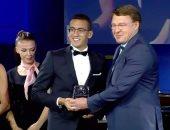 أحمد الجندي يفوز بجائزة أفضل لاعب ناشيء من الاتحاد الدولي للخماسي الحديث