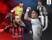 التشكيل الرسمى لقمة ميلان ضد يوفنتوس فى الدوري الإيطالي