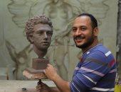 ناحت تمثال محمد صلاح: لم أقصد الرد على أحد وإعداده استغرق 72 ساعة