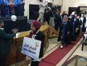صور.. حفل تخرج أول دفعة من كليات جامعة مطروح