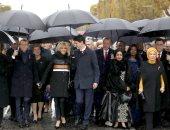 صور.. قادة العالم يحيون ذكرى ضحايا الحرب العالمية فى احتفال مهيب فى باريس