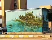 شاهد.. فنان مصرى يحول أكشاك الكهرباء إلى لوحات فنية بديعة