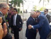 """صور.. محافظ بورسعيد يستقبل وزير القوى العاملة قبل زيارة حقل """"ظهر"""""""
