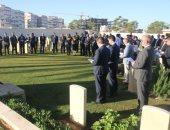 مسئولو السفارة البريطانية بليبيا يزورون مقابر جنود الحرب العالمية الأولى
