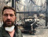 حرائق كاليفورنيا تدمر منزل الممثل الأمريكى جيرارد بتلر