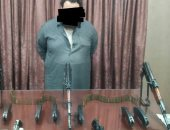 ضبط تاجر سلاح بالدقهلية وبحوزته 3 بنادق آلية وطبنجتين و 130طلقة