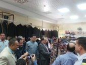 رئيس جامعة بنى سويف يفتتح معرض الملابس للطلاب ذوى الإعلاقة وغير القادرين