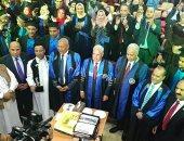 """صور.. محافظ مطروح يشيد بتبرع """"الشعبيين"""" لصندوق الجامعة.. ويؤكد: بداية قوية"""