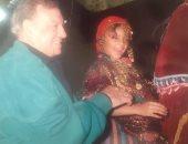 ناهد السباعى تسترجع ذكريات طفولتها بصورة مع جدها فريد شوقى