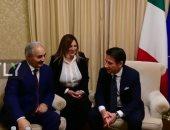 شاهد.. المشير خليفة حفتر يلتقى رئيس وزراء إيطاليا على هامش مؤتمر باليرمو