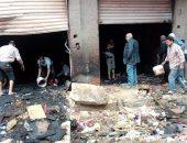 حريق يلتهم محتويات مصنع كراسى بالمحلة دون وقوع إصابات