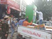 شرطة المرافق تشن حملة مكبرة لرفع الإشغالات بشوارع طنطا