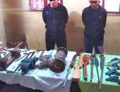 ضبط أسلحة وأدوات تصنيع بورشة لتصنيع الأسلحة يديرها شقيقين بكفر الشيخ