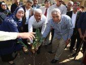 فيديو وصور.. محافظة المنوفية ونقيب الزراعيين يشاركان فى زراعة 3000 شجرة مثمرة