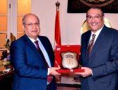 رئيس مجلس الدولة يستعرض مع السفير السعودى التعاون القضائى بين البلدين