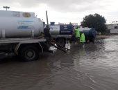 صور.. غرق غرب الإسكندرية بمياه الأمطار والمحافظة تتابع أعمال الشفط
