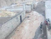 مصرع شخص انهار عليه سُوَر دير تادرس الشطبى بأسيوط بسبب مياه الأمطار