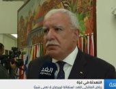 """شاهد.. وزير خارجية فلسطين: استقالة """"ليبرمان"""" تأتى سعيًا للوصول لمنصب أكبر"""