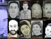 قارئ يشارك بلوحات فنية باستخدام الرصاص والفحم