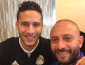 شيتوس ينشر صورة مع رمضان صبحى بمعسكر المنتخب الأولمبى