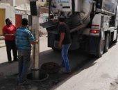 مياه القناه تنهى تطهير شبكات صرف منطقة عبد الحكيم عامر بالإسماعيلية