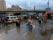"""شكاوى من تجمع مياه الأمطار على طريق """"خورشيد -العوايد"""" بالإسكندرية"""