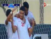 فيديو.. منتخب تونس الأوليمبى يتقدم على الفراعنة بهدف