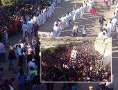 """صور.. مسلمون أقباط يحتفلون بـ """" مارجرجس """" فى الأقصر  .. عشرات الالاف يتوافدون على جبل """" الرزيقات """"  طلبا للبركة  ووفود من الأزهر  والأوقاف والأحزاب يزورون الدير لتقديم التهنئة بالإحتفال"""