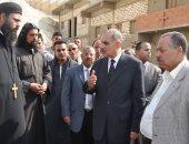 محافظ أسيوط يتفقد أعمال إزالة آثار الأمطار بدير الأمير تادرس الشطبى