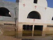 الكنيسة: أضرار بالغة بدير الأمير تادرس بمنفلوط بسبب السيول