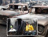 """صور.. """"جحيم كاليفورنيا"""" خارج السيطرة.. قوات الإطفاء تعجز عن محاصرة النيران.. 59 قتيل و130 مفقود ونزوح 200 ألف.. 8900 منزل يتحول إلى رماد.. وحاكم الولاية: المشهد يشبه """"حالة حرب"""""""