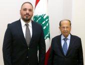شاهد.. رسالة رامى عياش للرئيس اللبنانى بعد لقائه فى قصر بعبدا