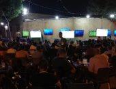 شاهد الجماهير المصرية تحتشد على مقاهي المهندسين لمتابعة مباراة الفراعنة وتونس