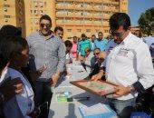 صور.. وزير الشباب يفتتح مشروع اللقاءات الرياضية لطلاب المدارس بالأقصر