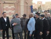 بدء مراسم عزاء الشهيد العميد ساطع النعمانى بمسجد الشرطة فى التجمع الخامس