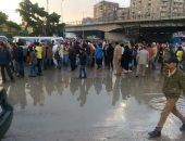 """مياه الأمطار تحاصر طريق """"خورشيد _ العوايد"""" بالإسكندرية"""
