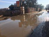 صور.. غرق شوارع قرية ميت حبيب بالغربية بعد انفجار خط مياه رئيسى