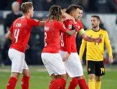 سويسرا تتفوق على بلجيكا 3 - 2 فى شوط أول مثير بدورى أمم أوروبا.. فيديو