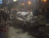 مصرع 4 أشخاص إثر انقلاب سيارة ملاكى فى شارع رمسيس وتوقف حركة المرور
