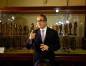 وزير الآثار: المتحف المصرى بالتحرير لن يموت وآثاره تكفى لمتاحف أخرى.. فيديو وصور