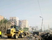 """صور.. استجابة لــ""""اليوم السابع"""" رئيس الوزراء يوجه بإزالة القمامة بالعوايد"""